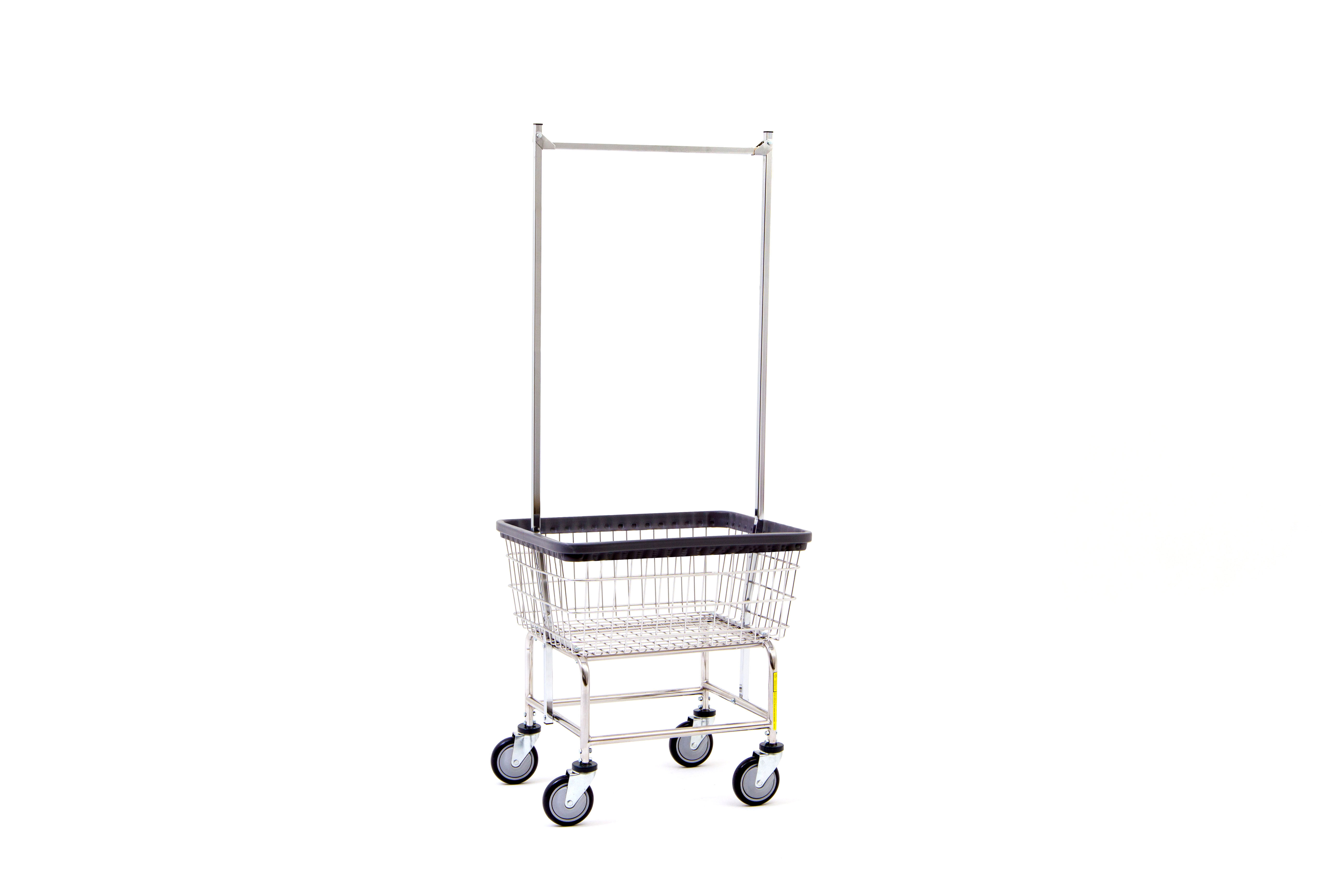 Laundry Cart w / Double Pole