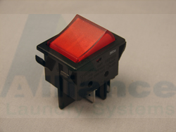 F340411 - Red Illuminated Rocker Switch