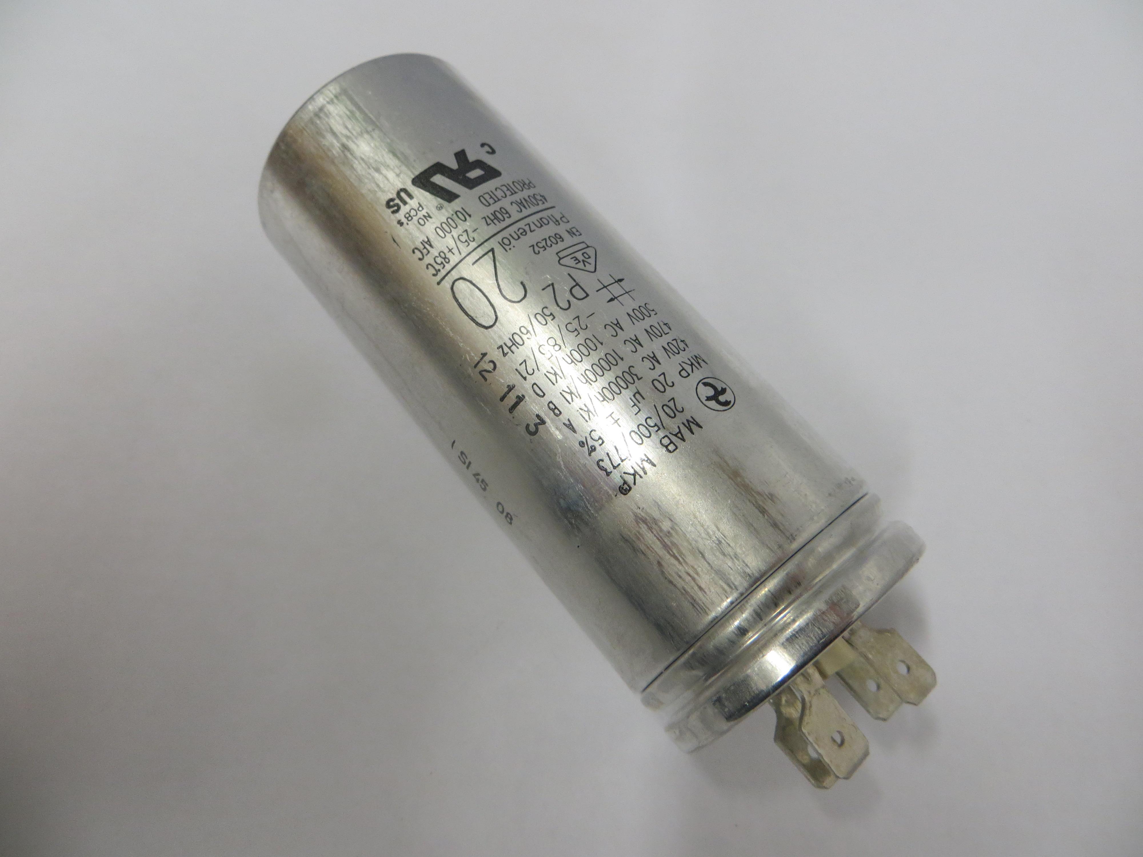 Capacitor MP 20MFD 1PH    PKG