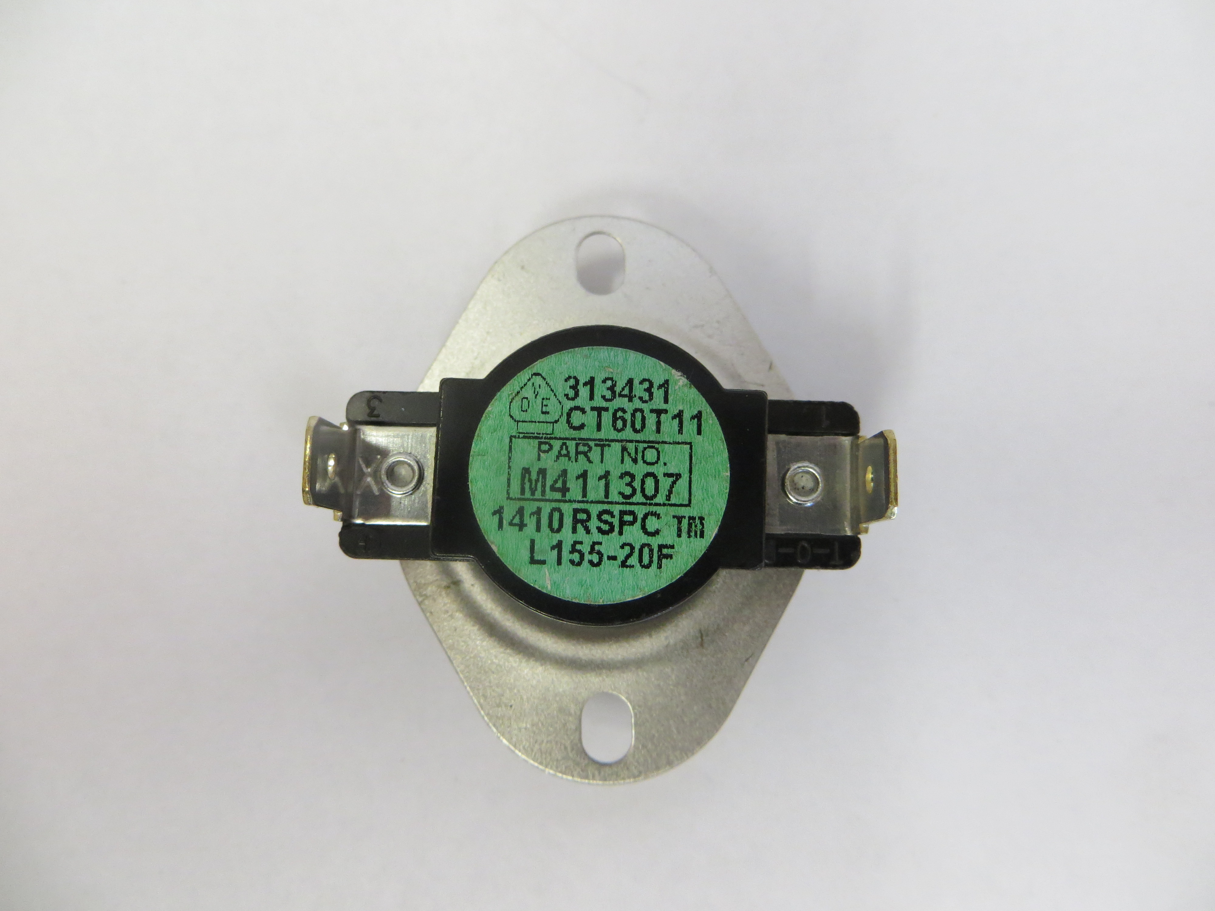 Thermostat Hi Limit 155F Green