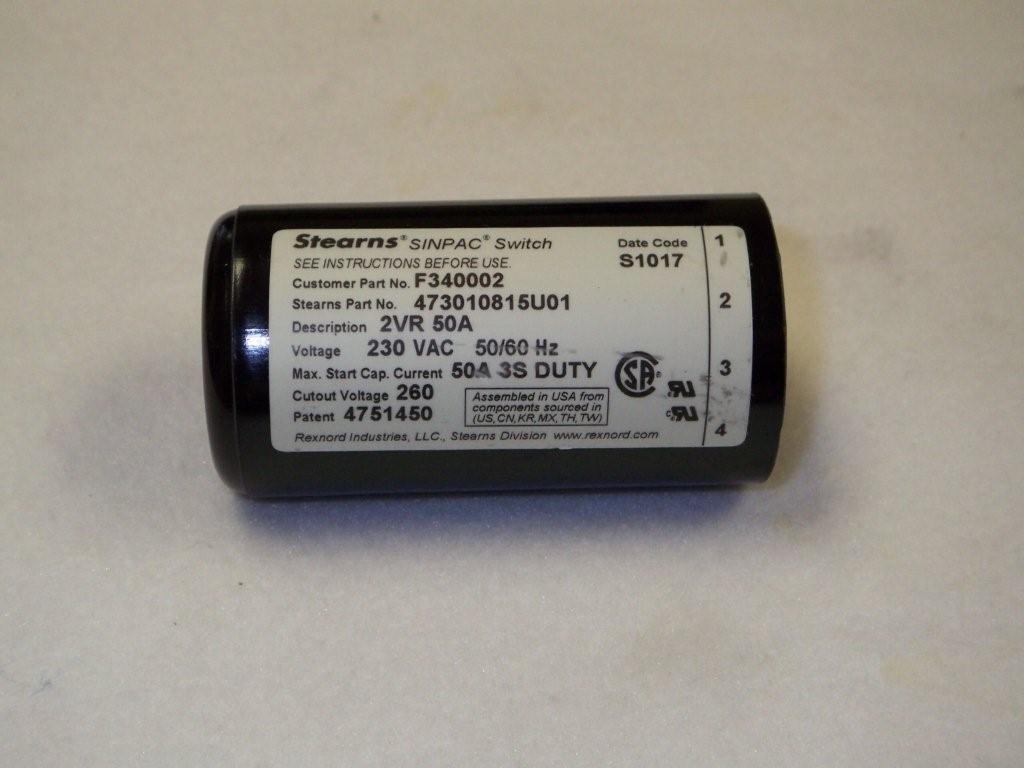 Motor Switch 50A 260V W/Elmo